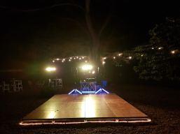Disco set-up in Chianti